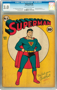 Superman #6 (DC, 1940) CGC GD/VG 3.0 Cream to off-white pages