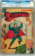 Superman #4 (DC, 1940) CGC VG 4.0 Cream to off-white pages