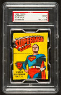 Non-Sport Cards:Unopened Packs/Display Boxes, 1966 Topps Superman Unopened Wax Pack PSA Mint 9....