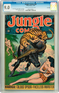 Jungle Comics #84 Lost Valley pedigree (Fiction House, 1946) CGC VF/NM 9.0 Cream to off-white pages