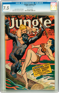 Jungle Comics #95 (Fiction House, 1947) CGC VF- 7.5 Off-white pages
