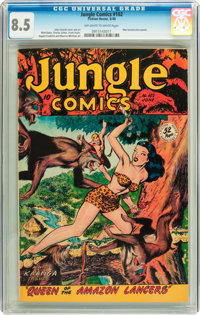 Jungle Comics #102 (Fiction House, 1948) CGC VF+ 8.5 Off-white to white pages