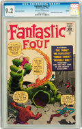 Silver Age (1956-1969):Superhero, Fantastic Four #1 Golden Record Reprint (w/o record) (Marvel, 1966) CGC NM- 9.2 Off-white to white pages....