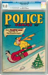 Police Comics #51 (Quality, 1946) CGC VF/NM 9.0 Off-white to white pages