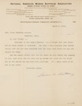 """Autographs:Celebrities, Susan B. Anthony Typed Letter Signed """"Susan B. Anthony.""""..."""