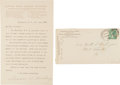 "Autographs:Celebrities, Susan B. Anthony Typed Letter Signed ""Susan B. Anthony.""..."