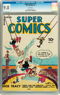 Super Comics #11 (Dell, 1939) CGC VF/NM 9.0 White pages
