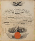 Autographs:U.S. Presidents, Abraham Lincoln Naval Appointment Signed As President....