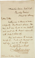 """Autographs:Authors, Charles Dickens Autograph Letter Signed """"CharlesDickens.""""..."""