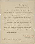 Autographs:U.S. Presidents, Ulysses S. Grant Military Appointment Signed as Ad-InterimSecretary of War....