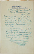 Autographs:Authors, Charles Dickens Autograph Letter Signed While on his Farewell Readings Tour....