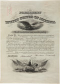 Autographs:U.S. Presidents, Theodore Roosevelt Signed Military Appointment....