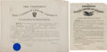 Autographs:U.S. Presidents, Woodrow Wilson Signed Military Appointment.... (Total: 2 Items)