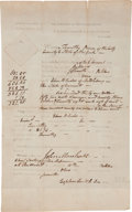 Autographs:Statesmen, [John Marshall] Notice of Judgement....