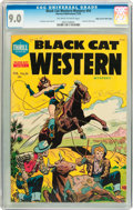 Golden Age (1938-1955):Superhero, Black Cat Mystery #54 Mile High pedigree (Harvey, 1955) CGC VF/NM 9.0 Off-white to white pages....
