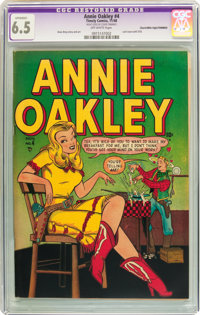 Annie Oakley #4 Mile High pedigree - Trimmed (Timely/Atlas, 1948) CGC Apparent FN+ 6.5 Off-white pages
