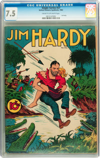 Single Series #27 Jim Hardy (United Features Syndicate, 1942) CGC VF- 7.5 Cream to off-white pages