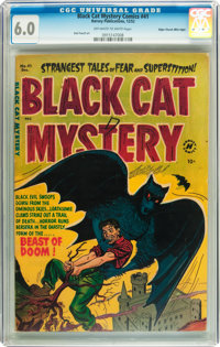 Black Cat Mystery #41 Mile High pedigree (Harvey, 1952) CGC FN 6.0 Off-white to white pages
