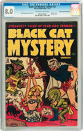 Black Cat Mystery #32 Mile High pedigree (Harvey, 1951) CGC VF 8.0 Off-white to white pages