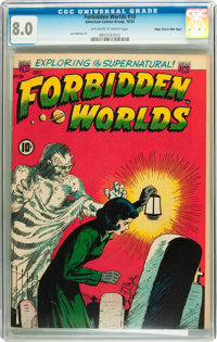 Forbidden Worlds #10 Mile High pedigree (ACG, 1952) CGC VF 8.0 Off-white to white pages
