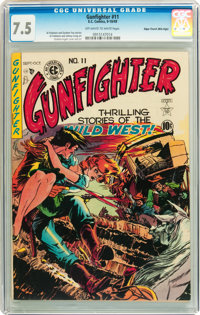 Gunfighter #11 Mile High pedigree (EC, 1949) CGC VF- 7.5 Off-white to white pages