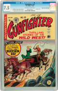 Golden Age (1938-1955):Western, Gunfighter #13 Mile High pedigree (EC, 1950) CGC VF- 7.5 Off-white to white pages....