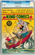 King Comics #15 Mile High pedigree (David McKay Publications, 1937) CGC VG/FN 5.0 Cream to off-white pages