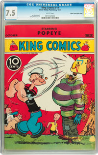 King Comics #19 Mile High pedigree (David McKay Publications, 1937) CGC VF- 7.5 White pages