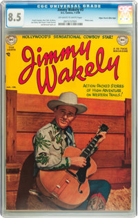 Jimmy Wakely #3 Mile High pedigree (DC, 1950) CGC VF+ 8.5 Off-white to white pages