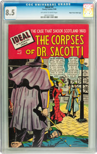 Ideal #2 The Corpses of Dr. Sacotti - Mile High pedigree (Timely, 1948) CGC VF+ 8.5 Off-white to white pages