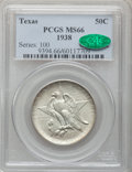 Commemorative Silver: , 1938 50C Texas MS66 PCGS. CAC. PCGS Population (186/39). NGCCensus: (215/43). Mintage: 3,780. Numismedia Wsl. Price for pr...