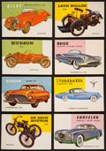 "Non-Sport Cards:Sets, 1954/55 Topps ""World On Wheels"" Complete Low Number Set (160) PlusWrapper...."
