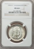Commemorative Silver: , 1950 50C Booker T. Washington MS66+ NGC. NGC Census: (145/13). PCGSPopulation (154/2). Mintage: 6,004. Numismedia Wsl. Pri...