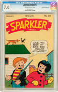 Golden Age (1938-1955):Miscellaneous, Sparkler Comics CGC Group - Mile High pedigree (United Features Syndicate, 1946-47).... (Total: 5 Comic Books)