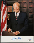 Football Collectibles:Photos, Gerald Ford Signed Photograph....