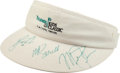 Basketball Collectibles:Others, Michael Jordan and Others Multi Signed Visor. ...