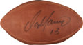 Football Collectibles:Balls, Dan Marino Signed Upper Deck Authenticated Football....