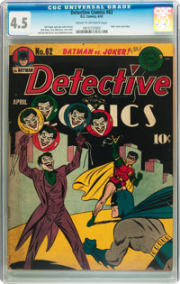 Detective Comics #62 (DC, 1942) CGC VG+ 4.5 Cream to off-white pages