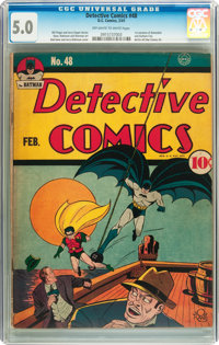 Detective Comics #48 (DC, 1941) CGC VG/FN 5.0 Off-white to white pages