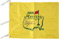 Golf Collectibles:Autographs, Phil Mickelson Signed 2006 Masters Flag. ...