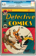 Golden Age (1938-1955):Superhero, Detective Comics #47 (DC, 1941) CGC VG 4.0 Off-white pages....
