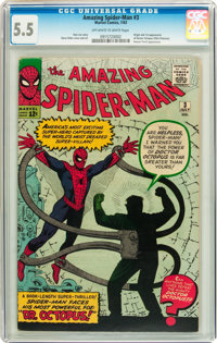 The Amazing Spider-Man #3 (Marvel, 1963) CGC FN- 5.5 Off-white to white pages