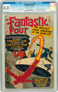 Fantastic Four #3 (Marvel, 1962) CGC VG 4.0 Off-white to white pages