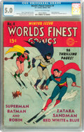 Golden Age (1938-1955):Superhero, World's Finest Comics #4 (DC, 1941) CGC VG/FN 5.0 Cream to off-white pages....