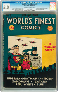 World's Finest Comics #5 (DC, 1942) CGC VG/FN 5.0 Cream to off-white pages