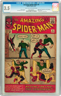 Silver Age (1956-1969):Superhero, The Amazing Spider-Man #4 (Marvel, 1963) CGC VG- 3.5 Light tan to off-white pages....