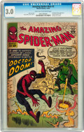 Silver Age (1956-1969):Superhero, The Amazing Spider-Man #5 (Marvel, 1963) CGC GD/VG 3.0 Light tan to off-white pages....