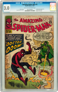 The Amazing Spider-Man #5 (Marvel, 1963) CGC GD/VG 3.0 Light tan to off-white pages