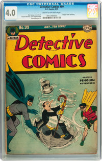 Detective Comics #99 (DC, 1945) CGC VG 4.0 Cream to off-white pages