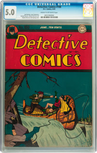 Detective Comics #100 (DC, 1945) CGC VG/FN 5.0 Cream to off-white pages